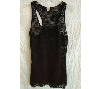 3/$30 Aritzia Wilfred MADELINE Lace Racerback Top